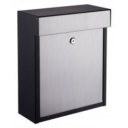 QualArc Woodlake Black / Stainless Locking Mailbox - Model WF-P010