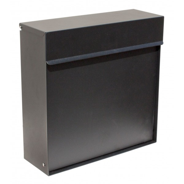 QualArc Covina Black Locking Mailbox - Model WF-P015