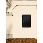 QualArc ParcelSentry Junior Black Wall Mount Locking Parcel and Mailbox - Model WF-PB019