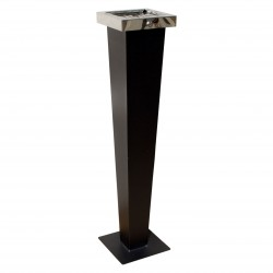 QualArc Huron Free Standing Black with Chrom Cigarette Ash Receptacle - Model WF-PS08S