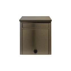 QualArc Kalos Stainless Steel Wall Mounted Mailbox with Combo Lock - Model WF-WL15205